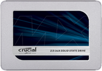 Crucial MX500 1000 GB, SSD interface SATA, Write speed 510 MB/s, Read speed 560 MB/s SSD disks