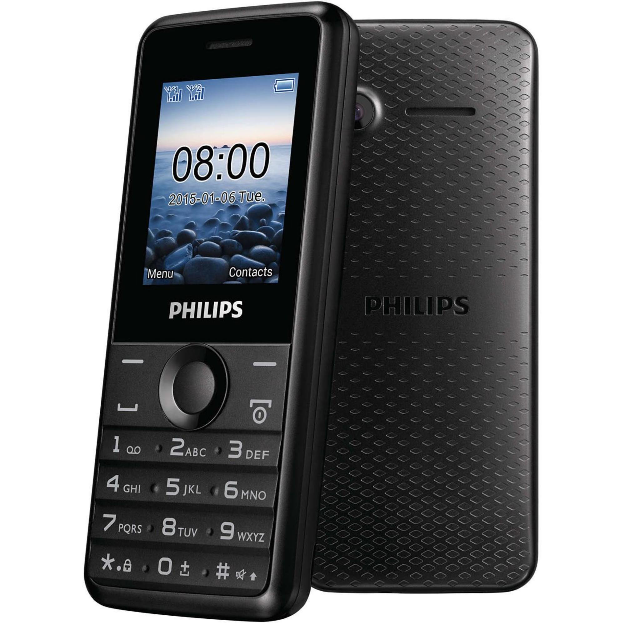 Philips Xenium E103 black EE LV LT Mobilais Telefons