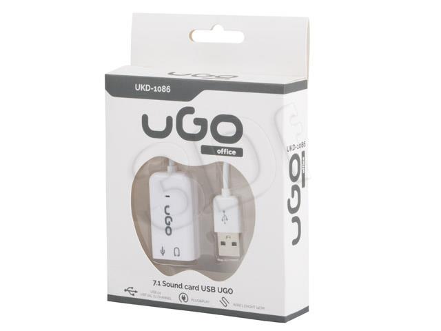 Natec Genesis UKD-1086 interface hub USB 2.0 White skaņas karte