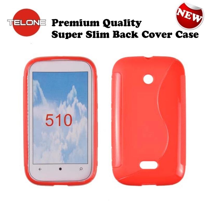 Telone Back Case S-Case gumijots telefona apvalks Nokia 510 aksesuārs mobilajiem telefoniem