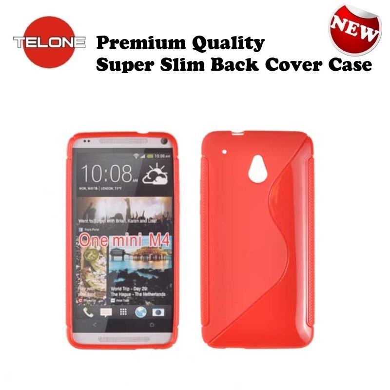 Telone Back Case S-Case gumijots telefona apvalks HTC One M7 aksesuārs mobilajiem telefoniem