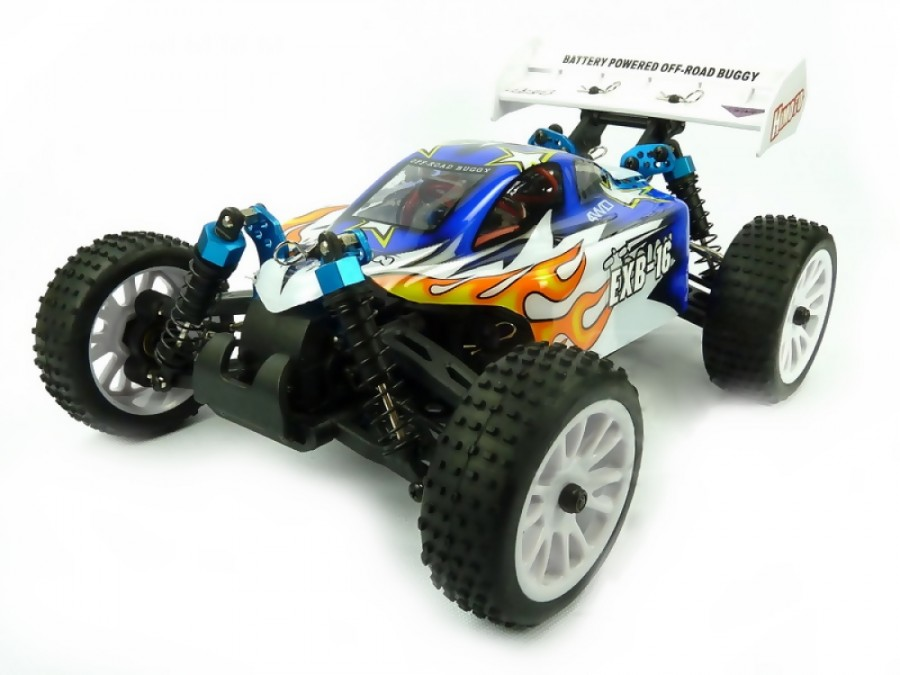 Himoto EXB-16 Buggy 1:16 4x4 2.4GHz RTR (HSP Troian) - Blue Radiovadāmā rotaļlieta
