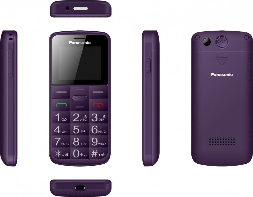 Panasonic Mobile phone for senior KX-TU110 purple Mobilais Telefons
