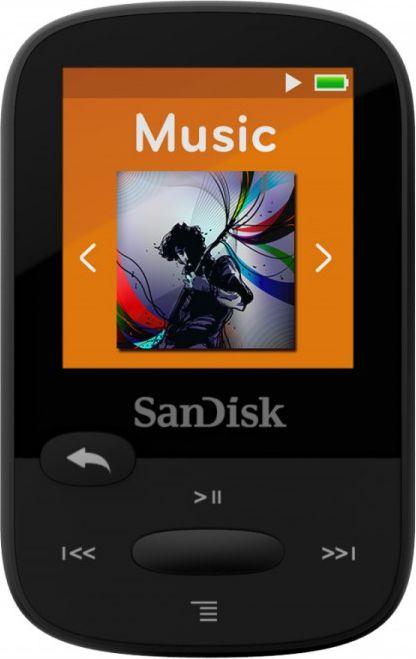 Sandisk Clip Sport Player mp3 8GB, black, microSDHC, Radio FM, color display MP3 atskaņotājs