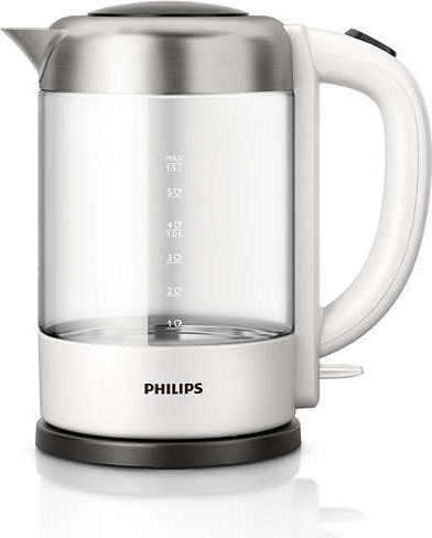 Philips HD9340/00 Avance Collection Wasserkocher 1,5 Liter black / white Elektriskā Tējkanna