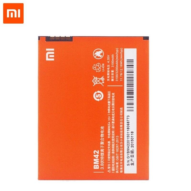 Xiaomi BM42 Oriģināls Akumulators Redmi Note 1 Paaudzes Li-Pol 3100mAh (OEM) akumulators, baterija mobilajam telefonam