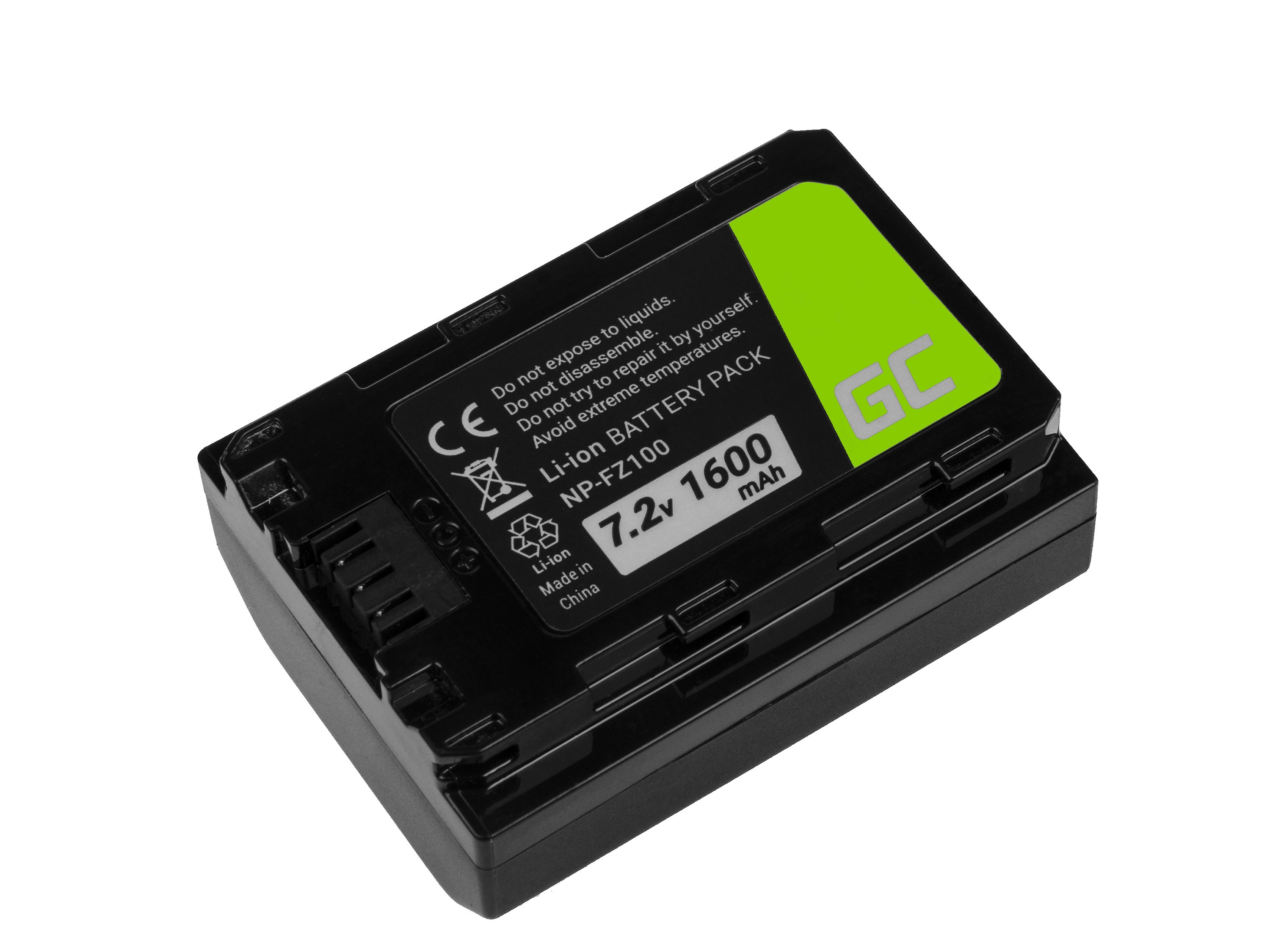 Green Cell Digital Camera Battery for Sony Alpha A7 III A7R III A9 A9R A9S ILCE-7M3 7RM3 7.2V 1600mAh Baterija