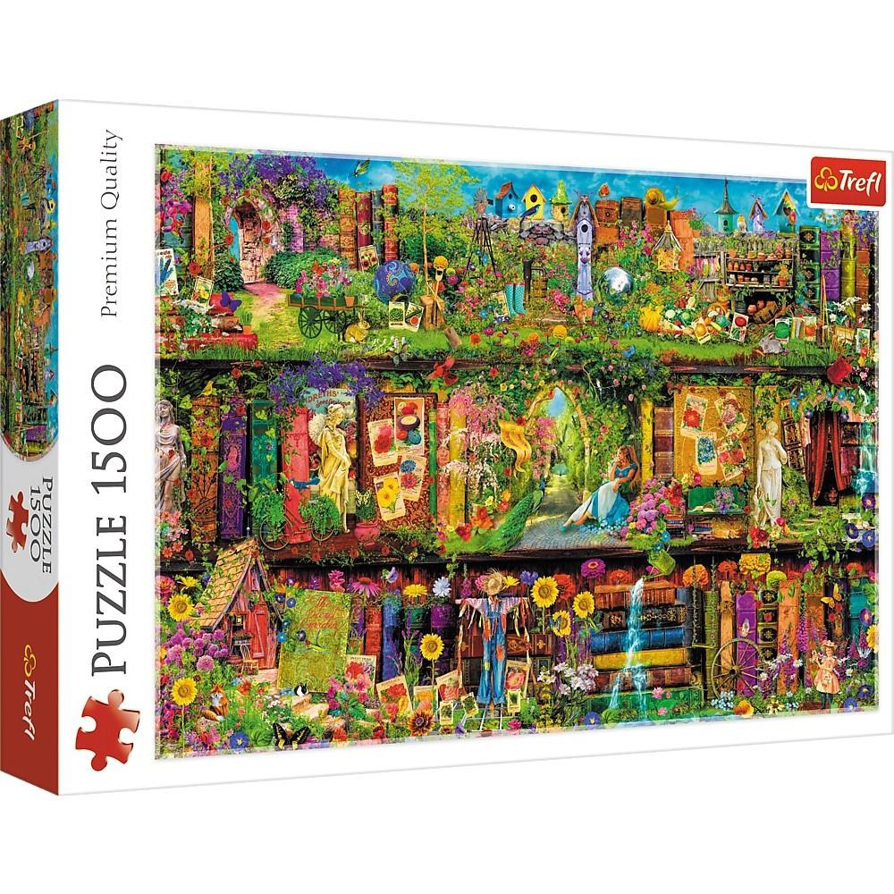 Trefl Puzzle 1500 pieces Fairy-tale bookcase puzle, puzzle