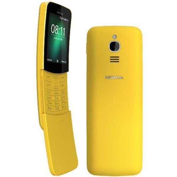 Nokia 8110 4G Dual SIM Yellow Mobilais Telefons
