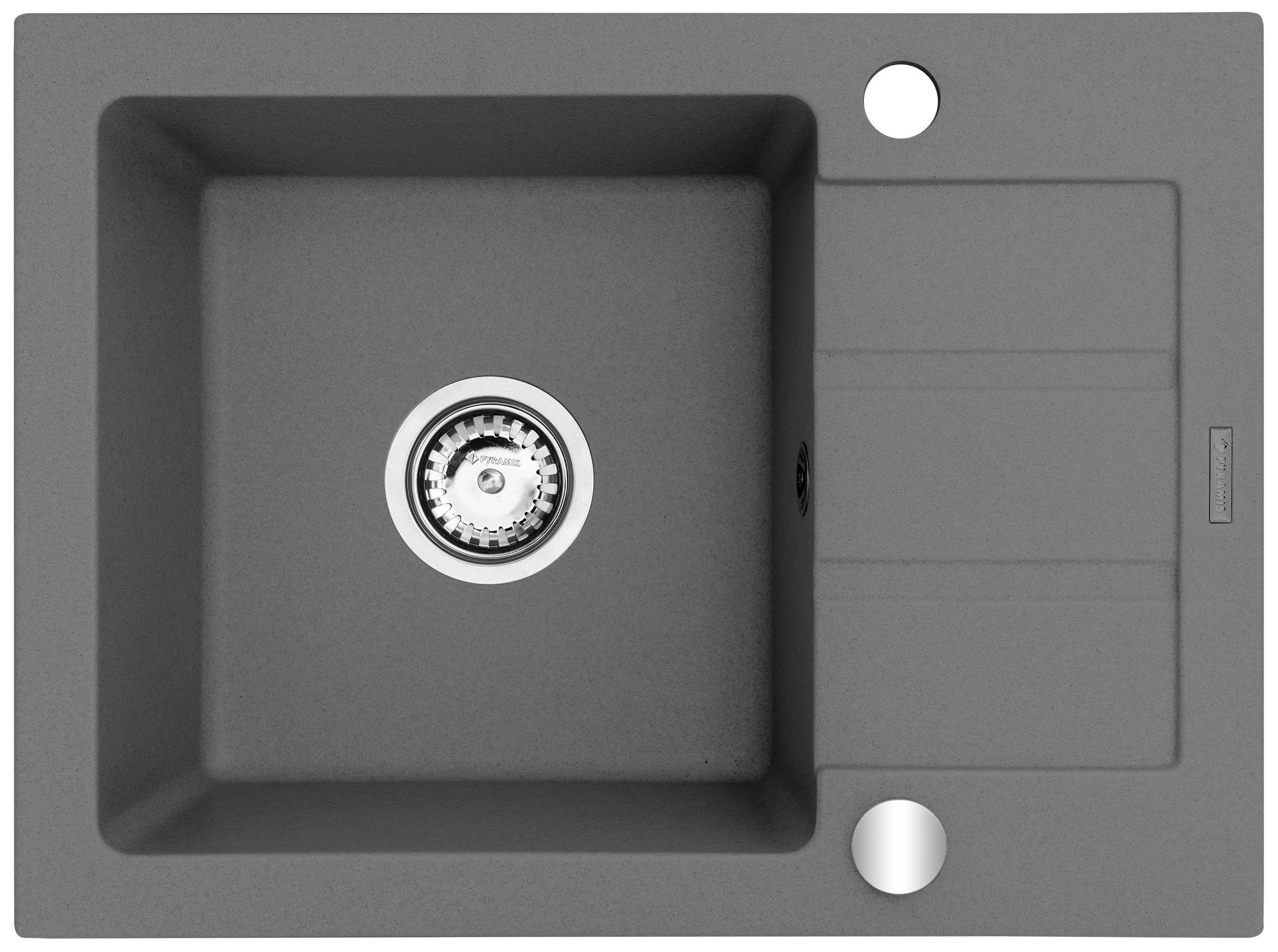 Maidsinks Single bowl sink with draining board Maidsinks Promo 59x44 1B 1D E070054201 gray be (Pyragranit; gray) Izlietne