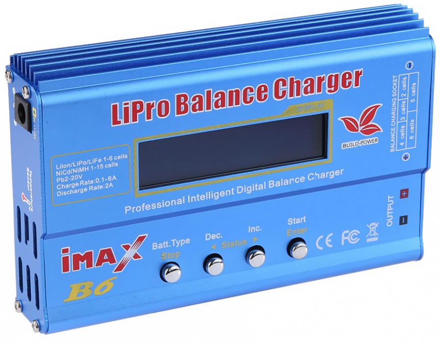 Charger Imax B6 80W 6A + adapters & temp. Sensor