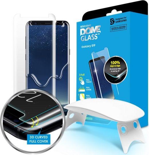 Whitestone Tempered Glass Dome Glass for GALAXY S9 + aizsardzība ekrānam mobilajiem telefoniem