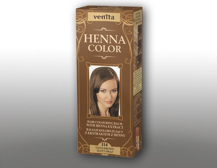 Venita Ziolowe Balsamy Henna Color 114 Zloty braz 75ml V1103