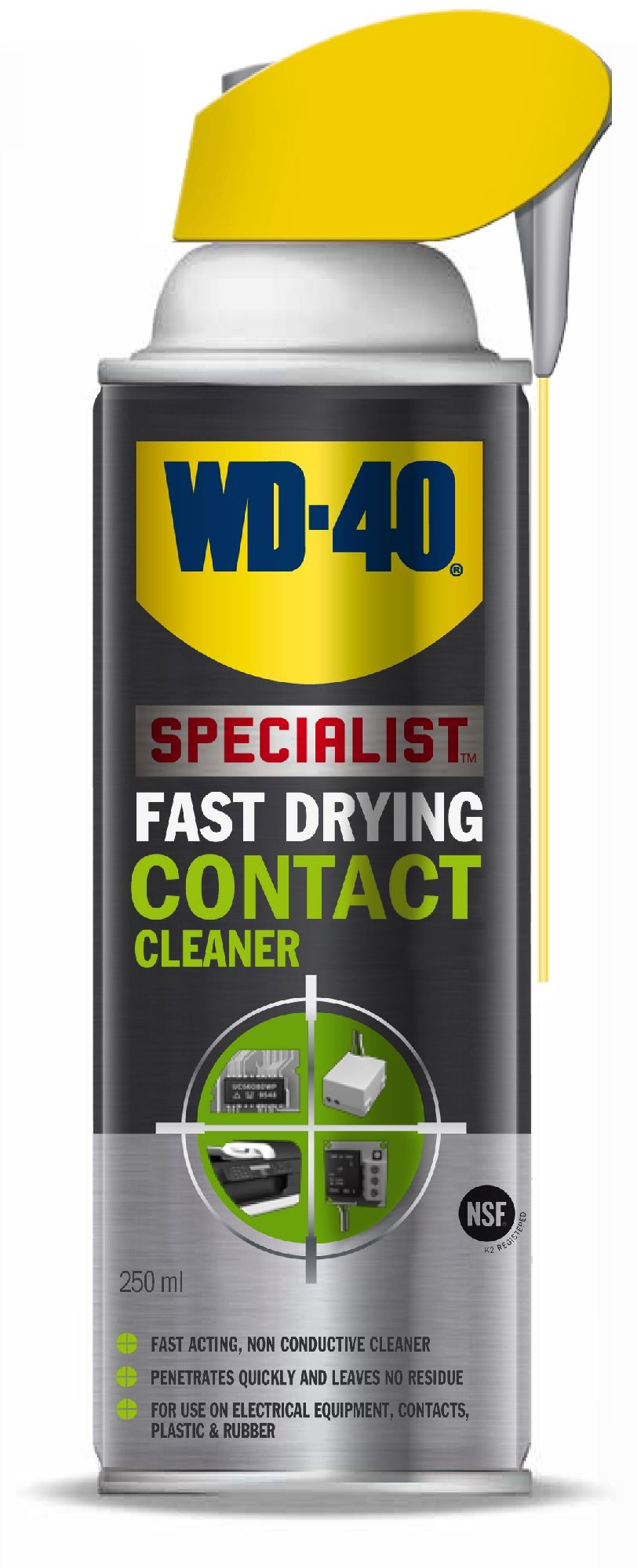 WD-40 CONTACT CLEANER 250ml SPECJALIST (03-119) Transmisiju un bremžu eļļas