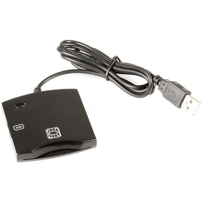 Fusion ID Karšu Lasītājs PC / SC / CCID ISO7816 USB (+SIM) Melns karšu lasītājs