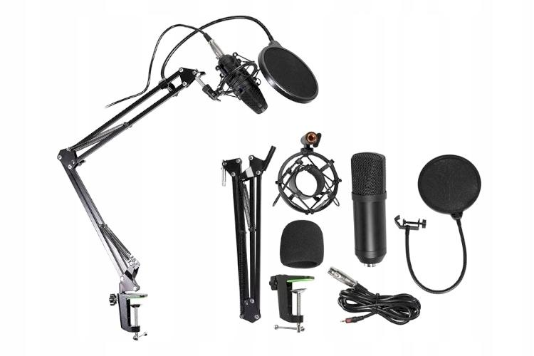 Tracer Studio Pro Mikrofons Datorspēlēm / Podkastiem / Translācijām Melns + turētājs, pop filtrs Mikrofons