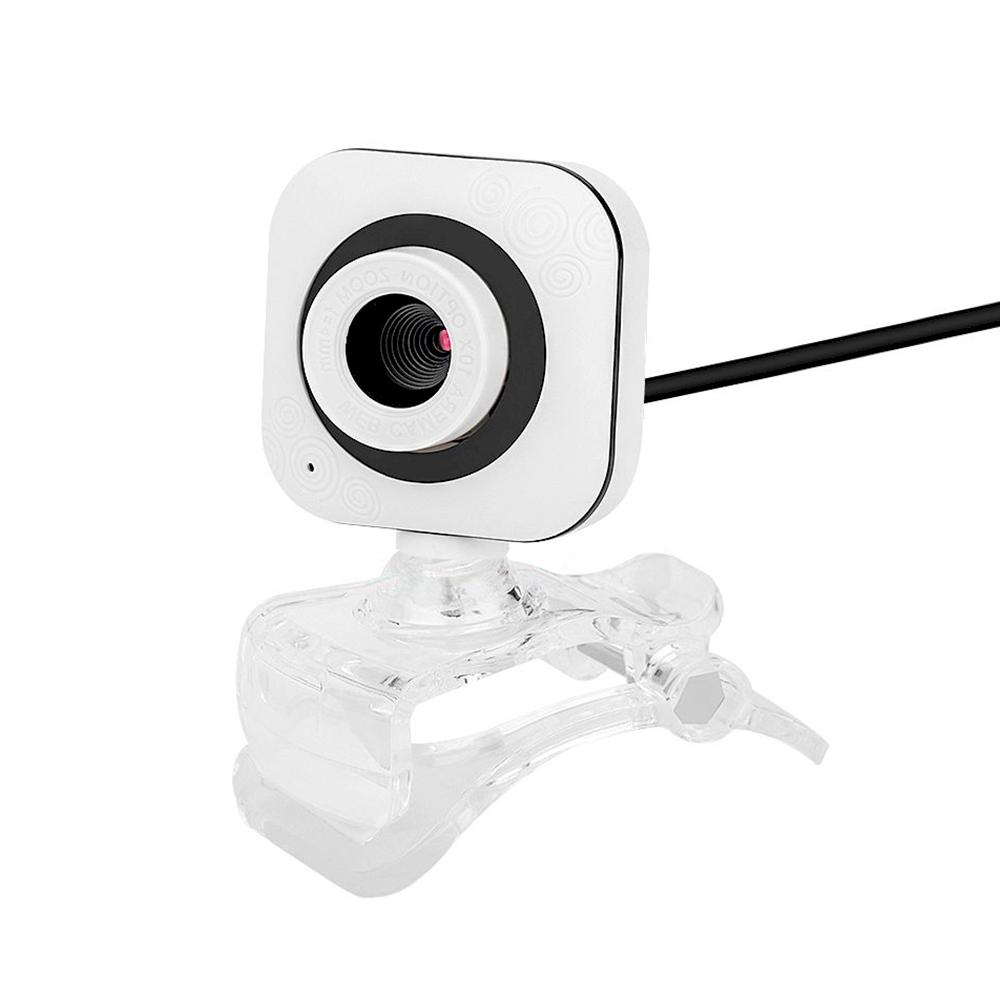 Fusion 720P WEB Kamera ar Mikrofonu USB 2.0 Balts web kamera