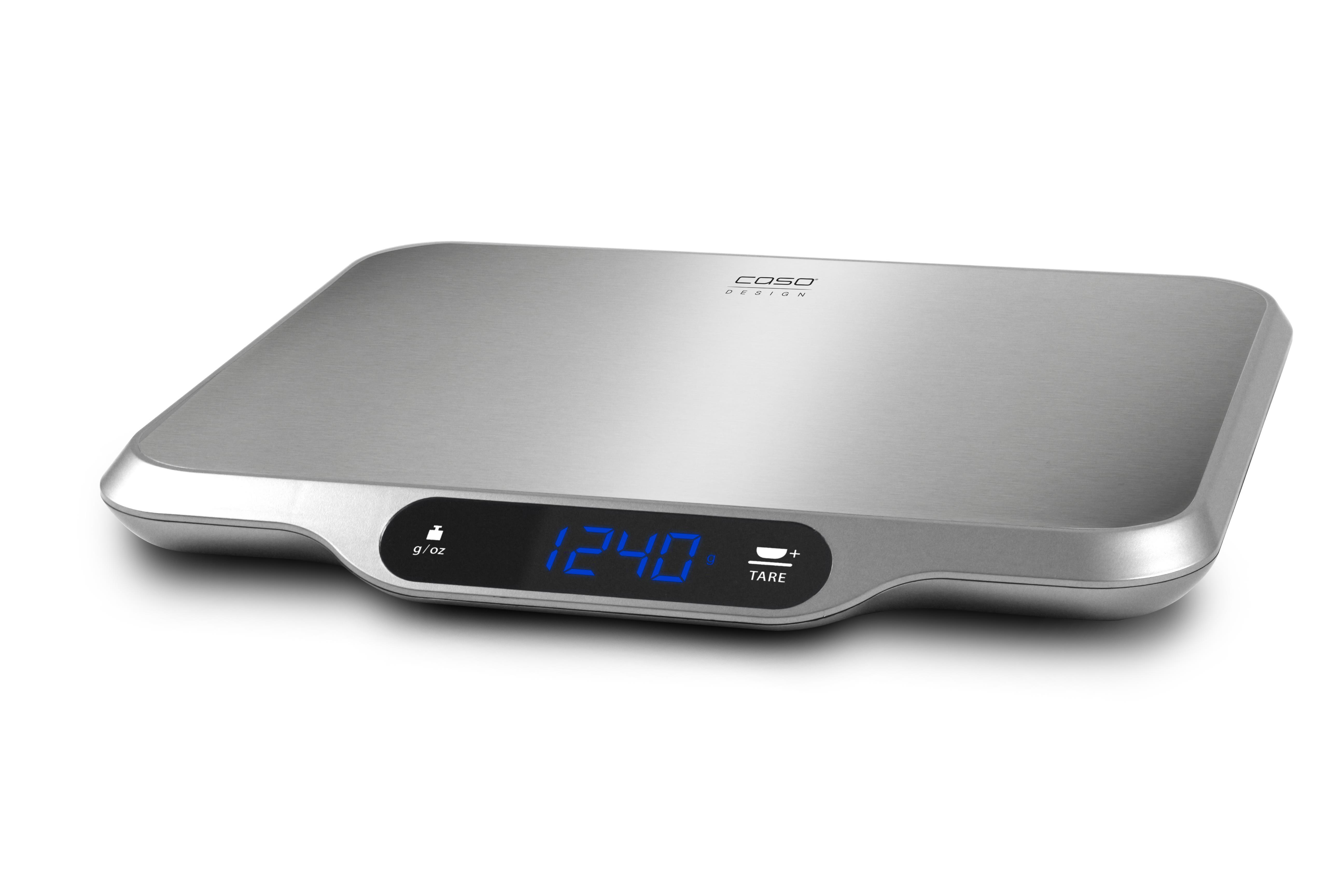 Caso L15 Kitchen Scales Caso Maximum weight (capacity) 15 kg, Graduation 1 g, Stainless steel 4038437032925 virtuves svari