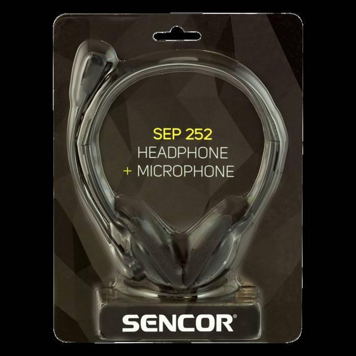 SENCOR SEP 252 Stereo austiņas + mikrofons austiņas