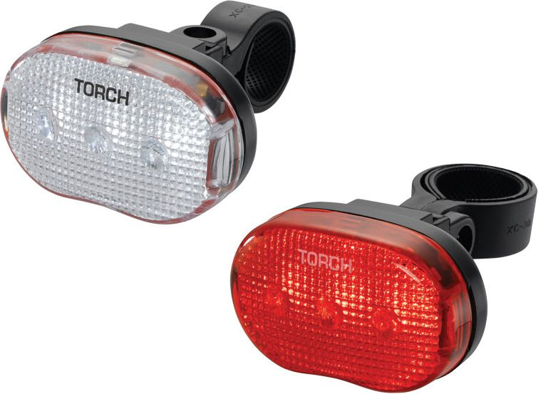 TORCH Light set CYCLE LIGHT SET WHITE BRIGHT 3 + TAIL BRIGHT 3 (TOR-54034)