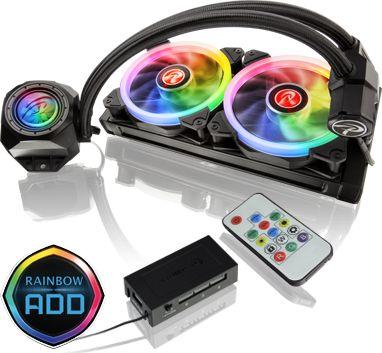Raijintek Orcus RGB Rainbow 240mm (0R10B00105) water cooling system ūdens dzesēšanas sistēmas piederumi