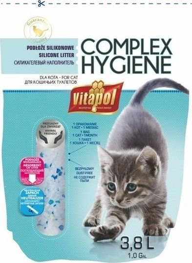 Vitapol Vitapol Piasek Silikonowy dla kota bezzapachowy 3,8L [4872] - 4872 4872 piederumi kaķiem