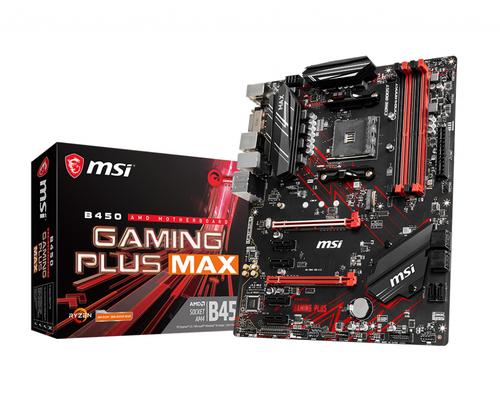 MSI B450 B450 GAMING PLUS MAX (AM4; 4x DDR4 DIMM; ATX; CrossFire) pamatplate, mātesplate