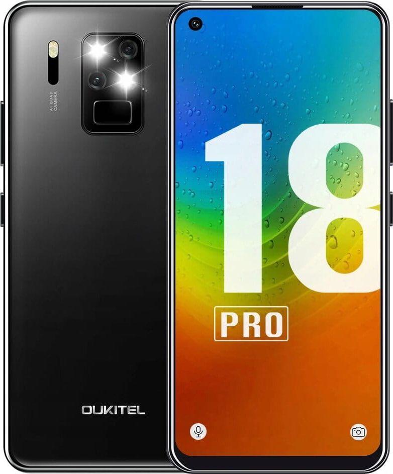 Smartfon Oukitel C18 Pro 64 GB Dual SIM Czarny  (oukitel_20200618143259) oukitel_20200618143259 Mobilais Telefons