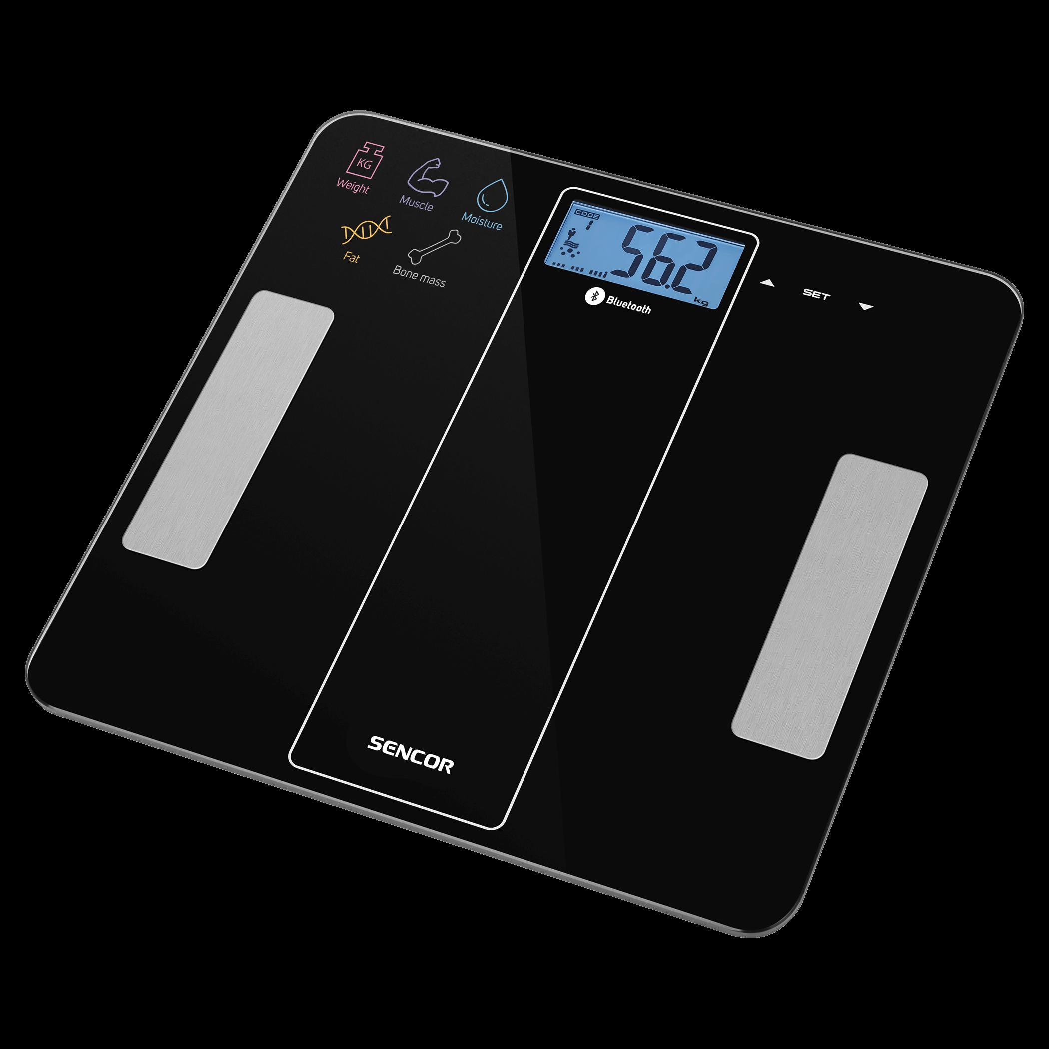 Sencor Bluetooth Fitness Scale SBS8000BK Svari
