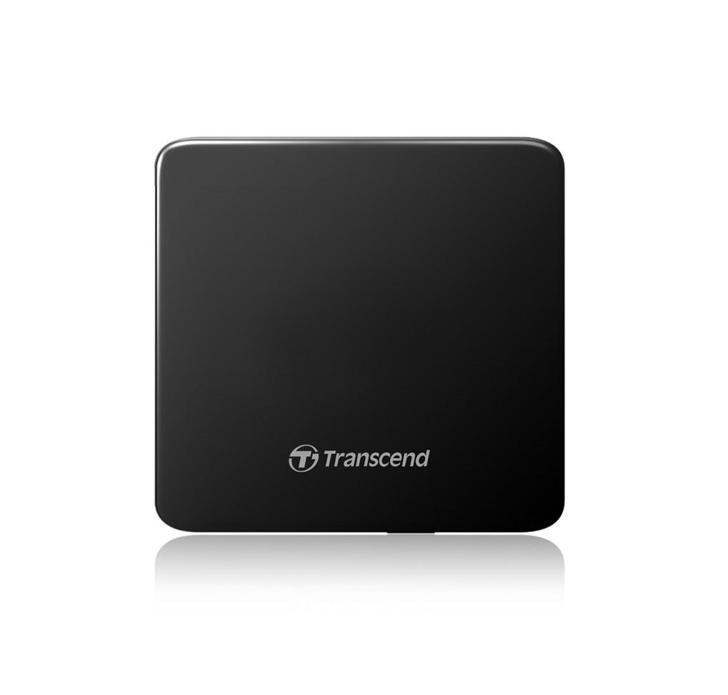 Transcend, USB, Black, Retail, Slim - only 13.9mm diskdzinis, optiskā iekārta