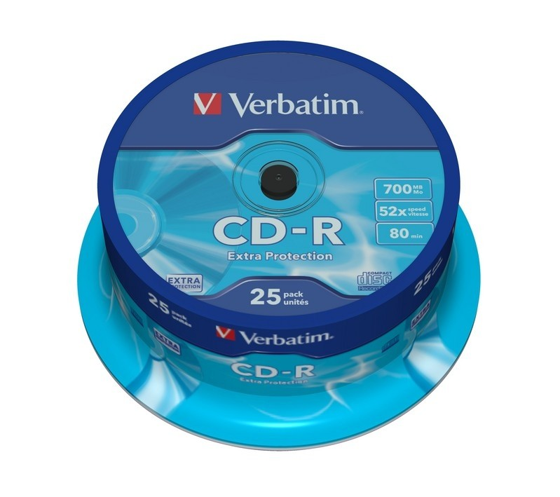 Verbatim CD-R 80/700MB 52X 25pack EXTRA PROTECTION cake box matricas