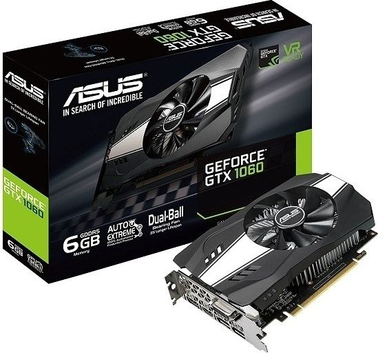 ASUS GeForce GTX 1060 Phoenix 6GB GDDR5 video karte