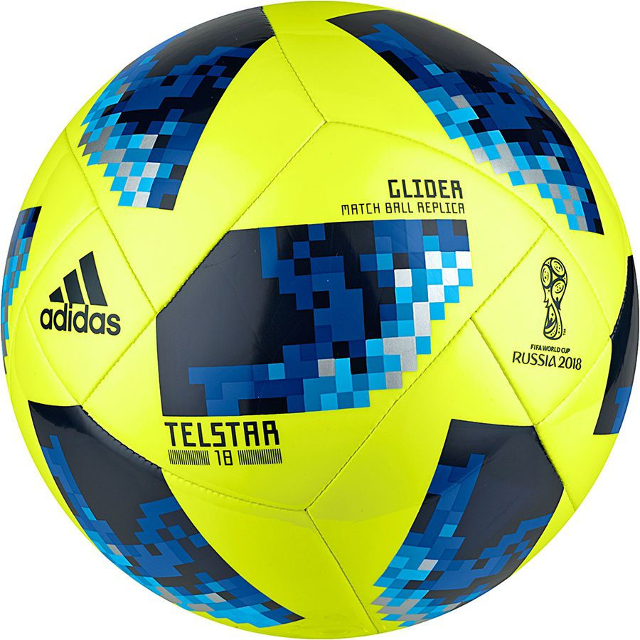 Adidas Football Telstar World Cup 2018 Yellow Glider r. 5 (CE8097) bumba