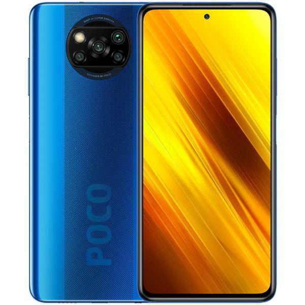 Xiaomi Poco X3 NFC 6GB/64GB Blue Mobilais Telefons