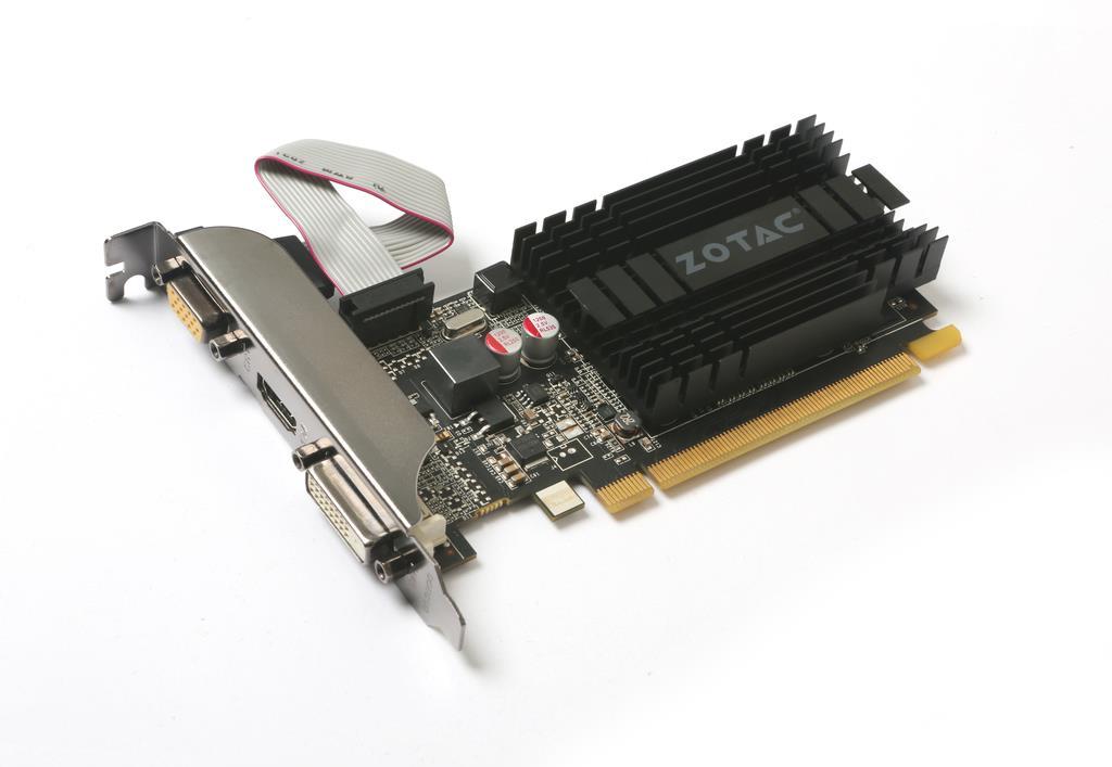 ZOTAC GeForce GT 710, 1GB DDR3 (64 Bit), HDMI, DVI, VGA video karte