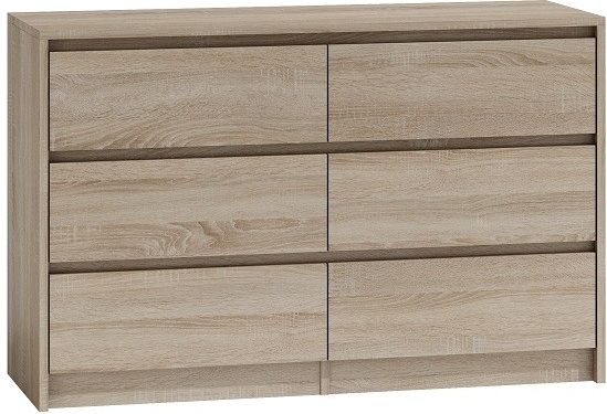 TopEshop Chest of drawers 6 drawers 120cm Sonoma Oak K120