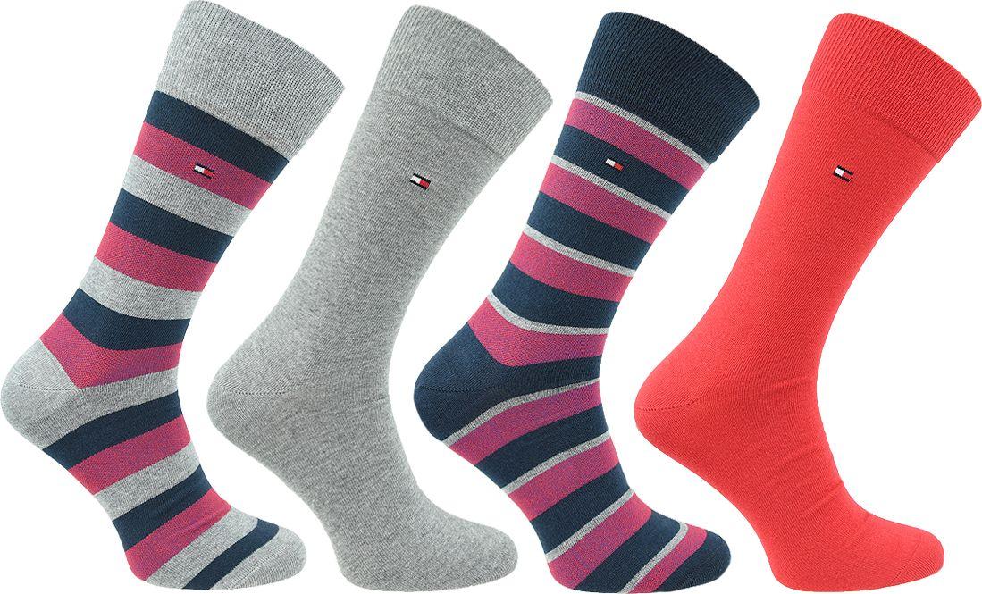 Tommy Hilfiger Tommy Hilfiger Orginal Stripe Box 4-Pack Socks 482002001-085 wielokolorowe 39-42 482002001-085