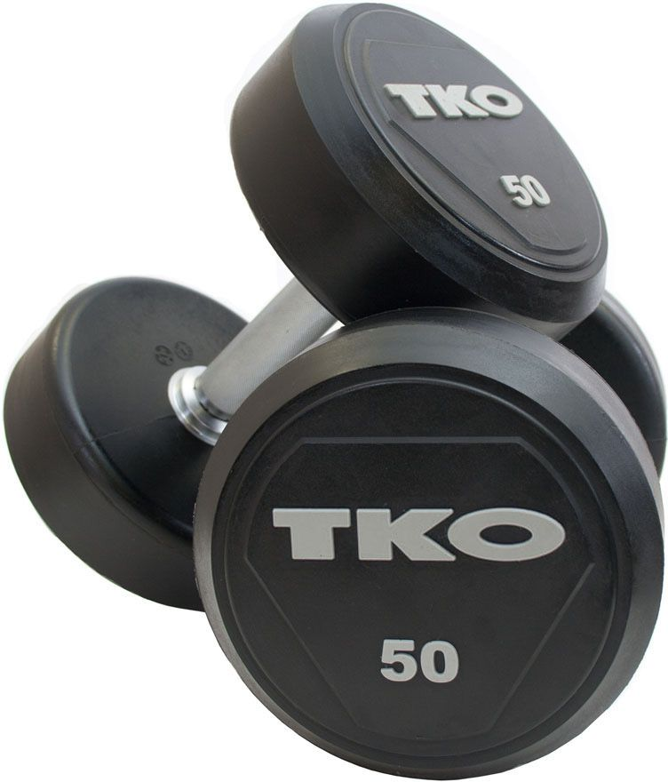 TKO Hantle Ogumowane Pro 42 kg czarno-srebrne (K828RR-42) K828RR-42 hanteles