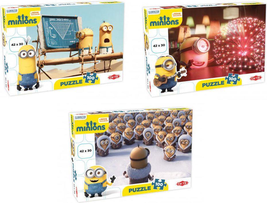 Tactic Minions Puzzle 100el mix - 53103 TACTIC puzle, puzzle
