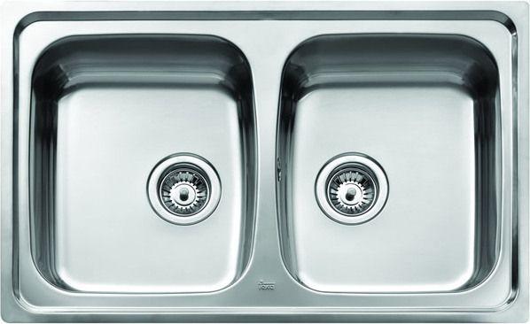 Teka 2-bowl sink Universo CN without drainer 79 x 50cm steel (10120003) Izlietne