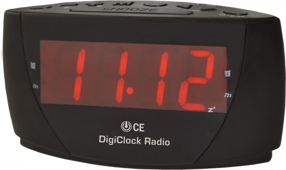 TechniSat DigiClock FM  Clock radio FM LED radio, radiopulksteņi