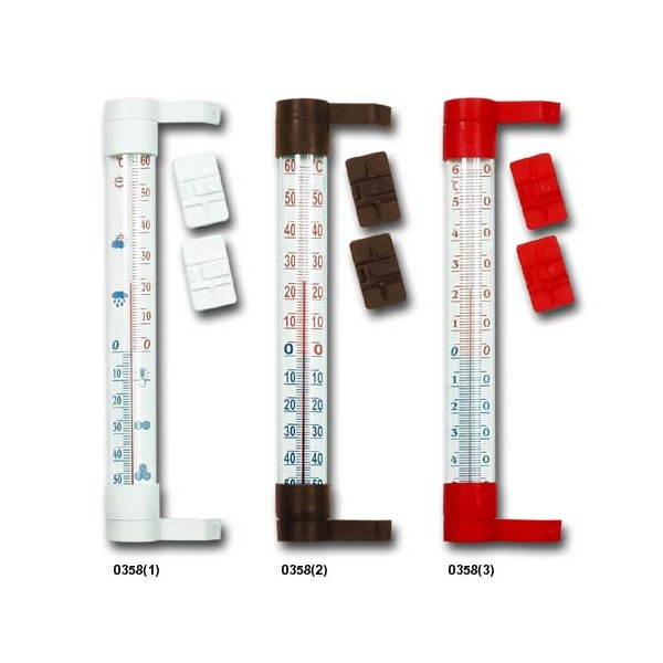 Terdens Window thermometer 24cm brown (0358) termometrs