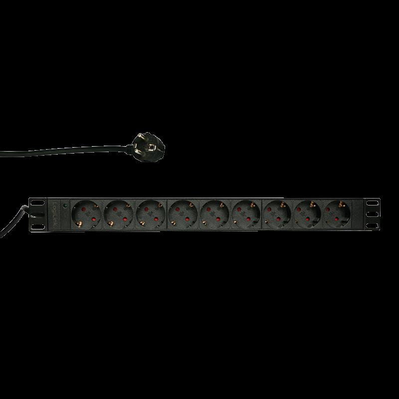 LOGILINK- 19''  power distribution unit with 9 german sockets without ON/OFF swi elektrības pagarinātājs