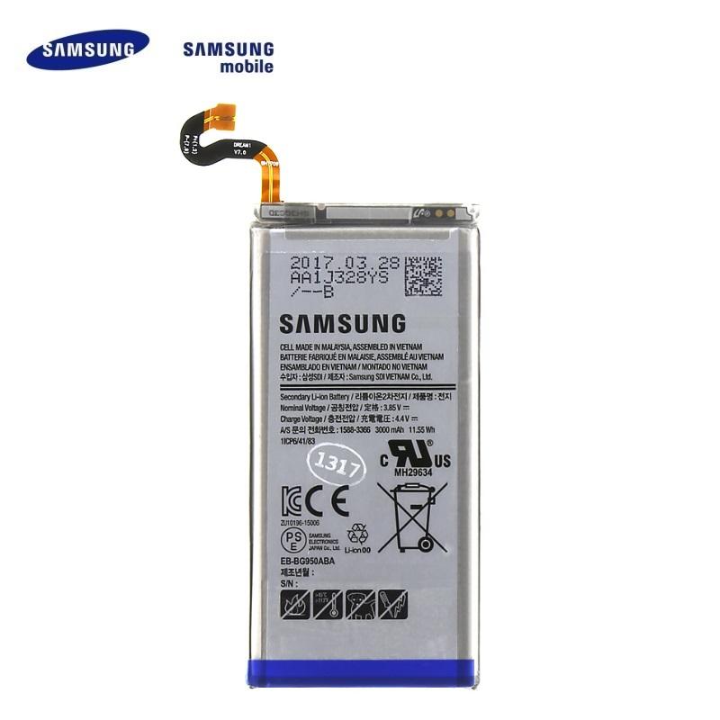 Samsung EB-BG950ABE Oriģināls Akumulators Samsung G950 Galaxy S8 3000 mAh (OEM) akumulators, baterija mobilajam telefonam