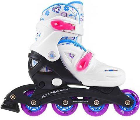 NILS Extreme Adjustable rollers NJ / NA0321 white r. L 36-40 (16-01-015) Skrituļslidas