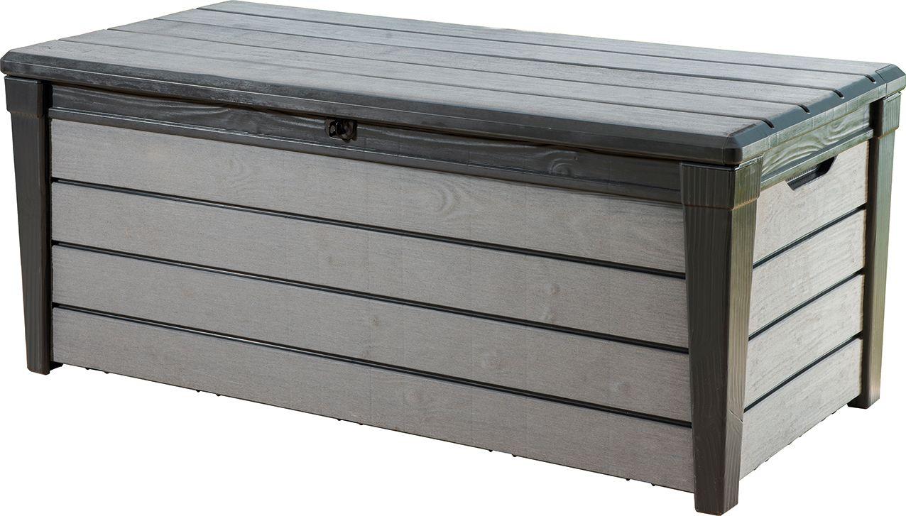 Keter Uzglabasanas kaste Brushwood Storage Box 454L peleka 29202631939 Dārza mēbeles