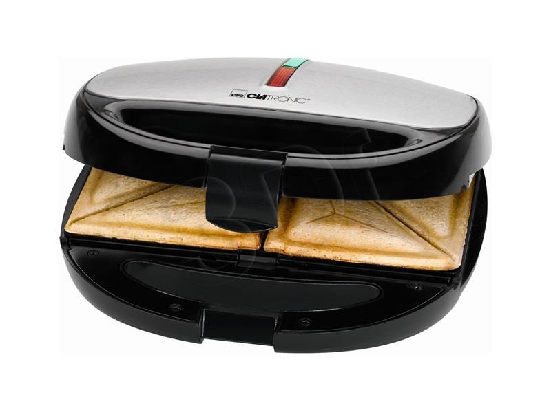 Clatronic ST/WA 3670 sandwich maker 800 W Black,Stainless steel vafeļu panna