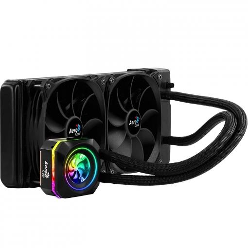 AEROCOOL Liquid Cooling PULSE L240 RGB 2x FAN 120x120x25mm ventilators
