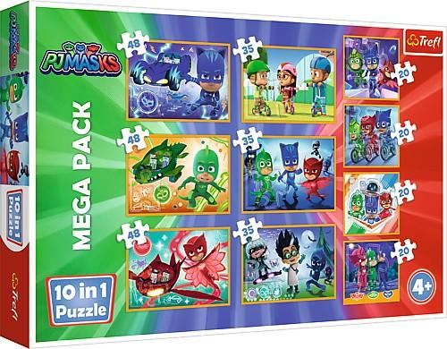 Trefl Puzzle 10in1 Brave PJ Masks puzle, puzzle