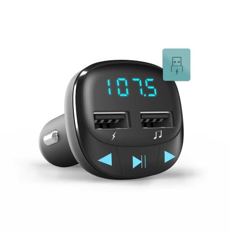 ENERGY SISTEM AUTO FM MODULATORS LCD USB+MicroSD, MELNS FM transmiteris